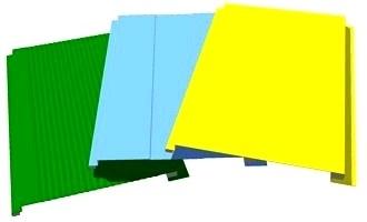 Цветные металлические панели для фасада и стен