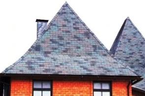 Фото крыши дома мягкой гибкой черепицы