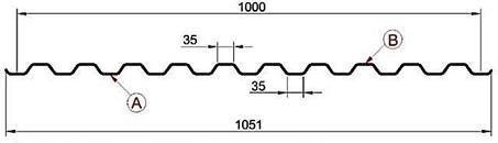 Профиль профнастила С21 под камень размеры и цены