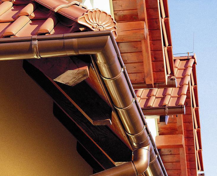 Цветные водосточные системы для крыши
